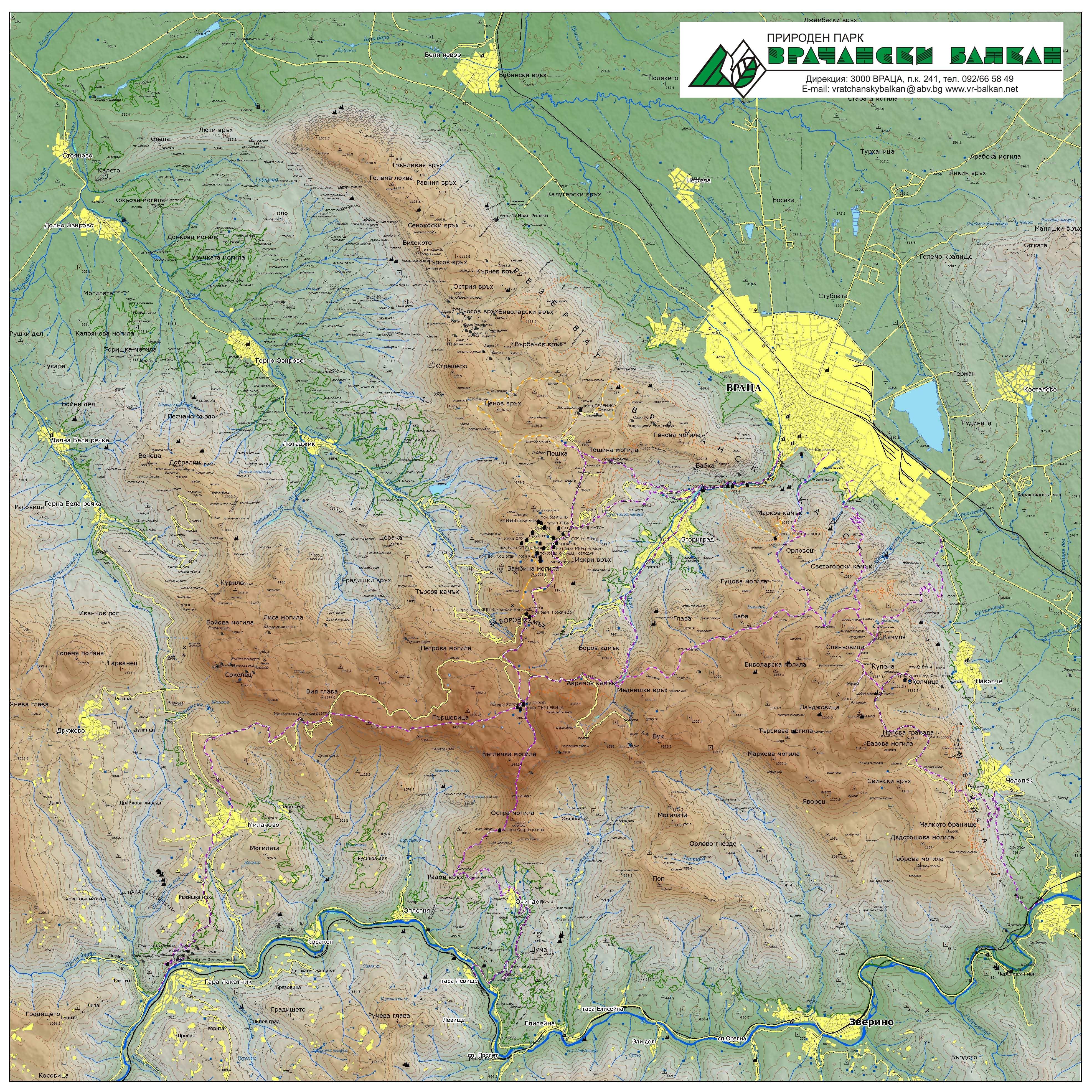 Karta Na Parka Direkciya Na Priroden Park Vrachanski Balkan